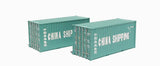 2 x 20ft Intermodal containers in China Shipping livery