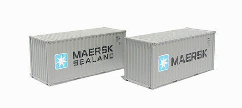 2 x 20ft Intermodal containers in Maersk livery