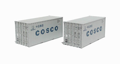 2 x 20ft Intermodal containers in Cosco livery