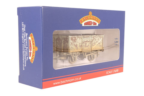 16 ton steel mineral wagon with top flap doors in BR grey - weathered