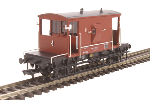 20 ton brake van B952963 in BR bauxite with flush sides