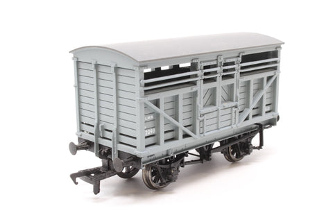 10 ton cattle wagon in LMS grey livery - Pre-owned - Like new - imperfect box