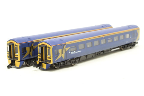 Class 158 2 car DMU in First North Western blue - Pre-owned - dummy set - non motorised