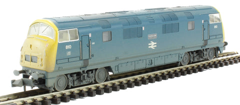 Class 42 Warship 810 'Cockade' in BR Blue - weathered