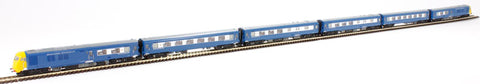 Class 251 Blue Pullman 6 car Midland set in Nanking blue with full yellow ends.