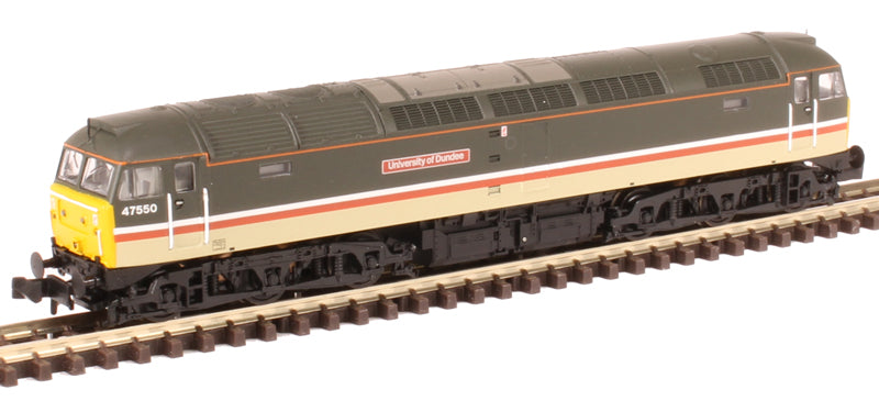 "Class 47/4 47550 ""University of Dundee"" in Intercity Mainline livery"