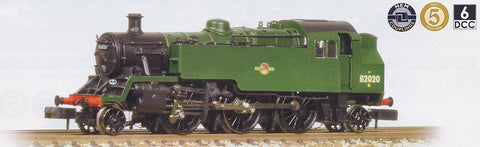 Standard Class 3MT Tank 2-6-2 82020 in BR plain green with late crest