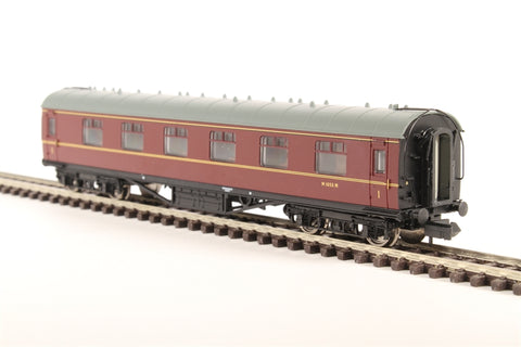 Stanier First Corridor in BR maroon