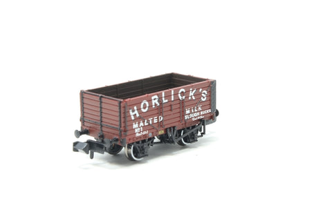 7 Plank End Door Wagon 'Horlicks' in Red Oxide - Exclusive to Bachmann Collectors Club - Pre-owned - Like new
