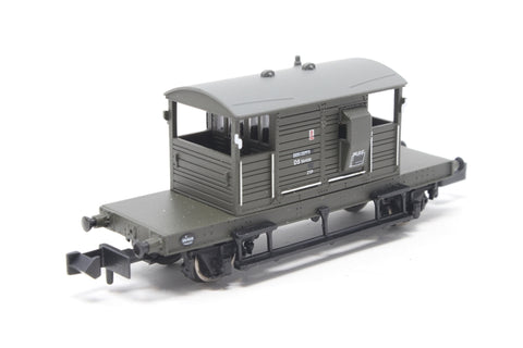 SR 25 Ton 'Pill Box' Brake Van BR Departmental Olive Green - Pre-owned - Like new