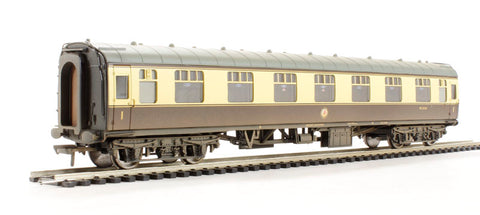 BR Mk1 FK First Corridor (WR) chocolate & cream - weathered