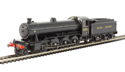 Class O2/3 Tango 2-8-0 63954 in early British Railways black with stepped tender