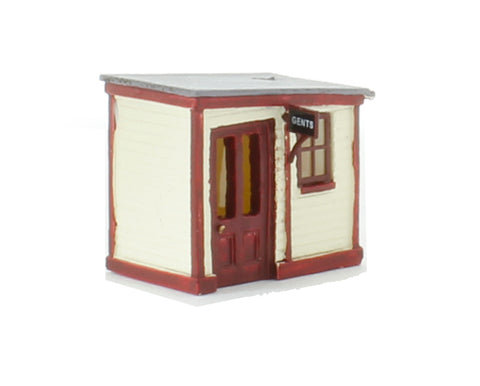 Wooden Station Gents Toilet (22 x 15 x 20mm)
