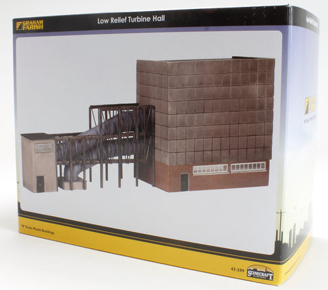 Power Station Low Relief Turbine Hall (230x45x107mm)
