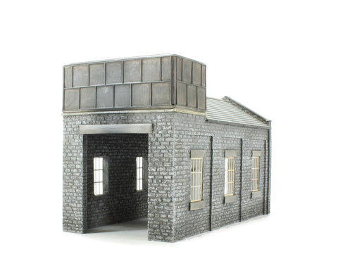 Single-road stone engine shed (183 x 88 x 113mm)