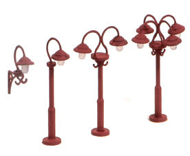 Swan necked lamps - non-working - pack of nine - plastic kit