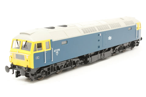 Class 47/0 47278 in BR blue - Pre-owned - Like New - Shelf worn box - DCC Fitted
