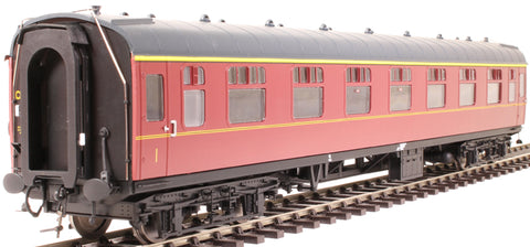 Mk1 FK first corridor in BR maroon - unnumbered