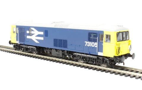 Class 73 electro-diesel 73105 in BR large logo blue