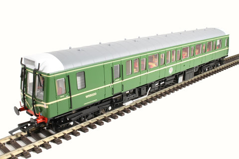 Class 121 single car DMU 'Bubblecar' W55020 in BR green with speed whiskers