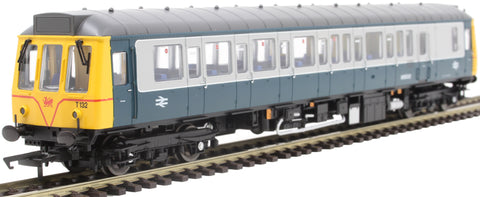 Class 121 single car DMU 'Bubblecar' 55032 in BR blue and grey with Welsh Dragon emblem