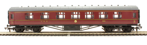 RTR 60ft Stanier corridor composite in LMS lined maroon 3934