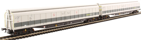 Pair of Cargowaggon bogie ferry vans in Railadventure two-tone grey