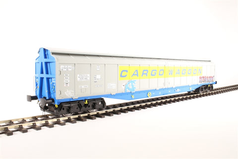 Bogie covered IWB Cargowaggon 2797591 in silver and blue - weathered