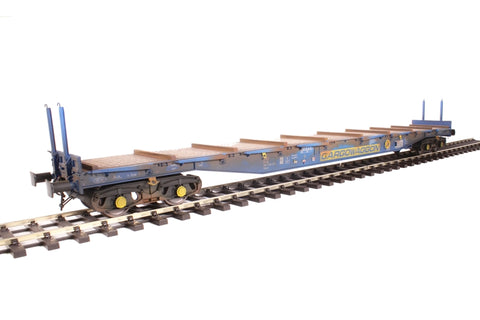 Bogie flat IWB Cargowaggon 4647026 in silver and blue - weathered