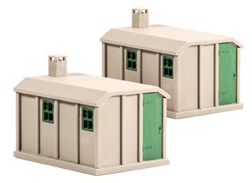 Concrete lineside huts - pack of two - plastic kit
