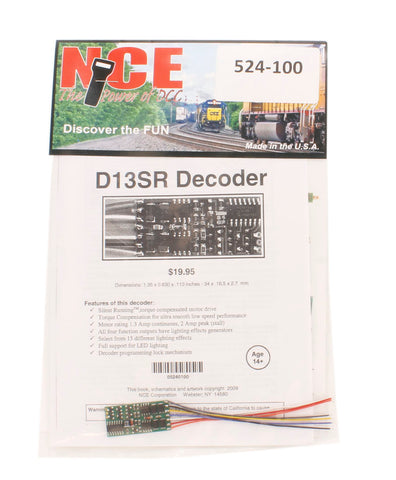 4-function 1.3A (2A peak) D13SR wired decoder (Size: 1.35