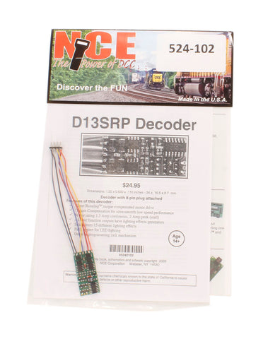8-pin 4-function 1.3A (2A peak) D13SRP decoder (1.35