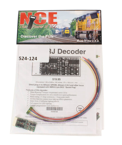 4-function 1.3A (2A peak) D13SRJ decoder with wiring harness (1.50