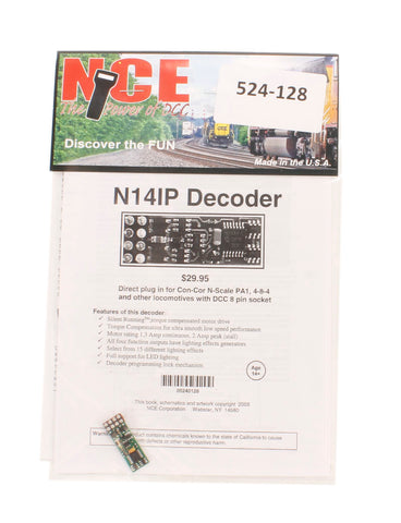 8-pin 4-function 1A (1.25A peak) N14IP decoder with no harness (Size: 1.15