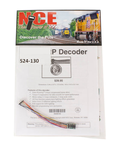8-pin 4-function 1A (1.25A peak) Z14SRP small decoder (Size: 0.34
