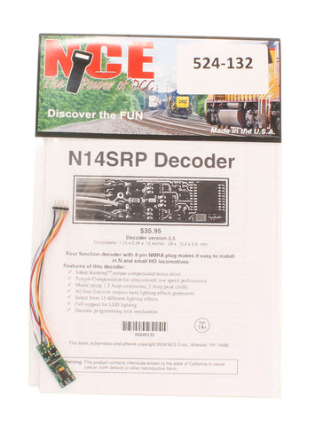 8-pin 4-function 1A (1.25A peak) N14SRP decoder (Size: 1.15