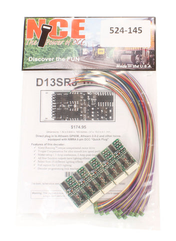 4-function 1.3A (2A peak) D13SRJ decoder with wiring harness (Size: 1.50