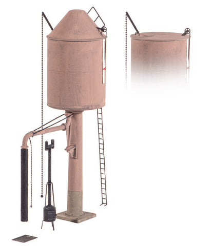 GWR style water tower - conical or flat top - plastic kit