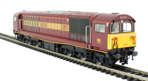 Class 58 58030 In EWS red and gold