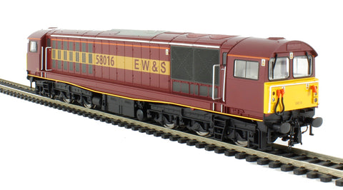 Class 58 58016 in EW&S maroon and gold