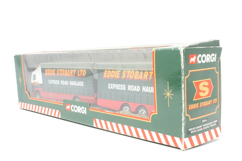Volvo Short Wheelbase Lorry with Trailer - 'Eddie Stobart' - chipped paint - marks and discolouration - imperfect box