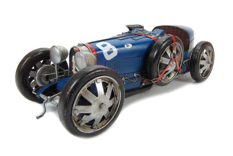1925 - 1929 Bugatti Type 35 #8 in blue- Tinplate Model