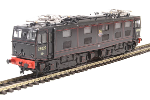 Class 76 EM1 Woodhead electric 26020 in BR black with early crest - gloss finish as preserved - Limited Edition for Olivias Trains