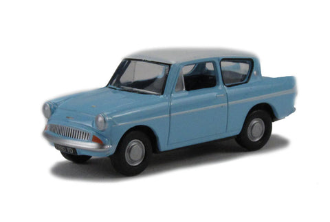 Ford Anglia in light blue/Ermine white