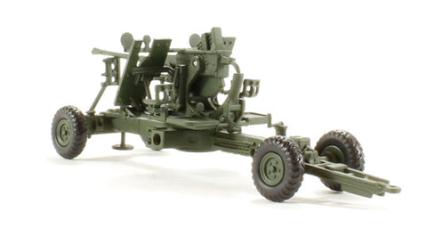 40mm Bofors Anti-Aircraft Gun as used with the British Army/Navy 1937- late 1980s in olive drab