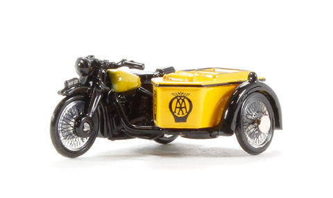 BSA M20/WM20 Motorcycle & sidecar 'AA', with early front forks (circa 1937-47)
