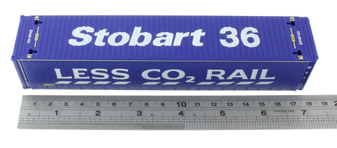 "45' container ""36"" in Stobart Rail ""Less Co2"" livery"