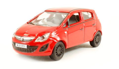 Vauxhall Corsa in red