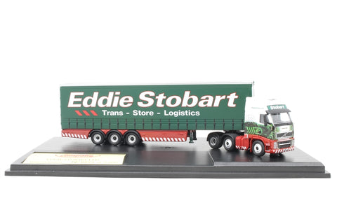 "Volvo FH Curtainside ""Eddie Stobart"" 40th anniversary. Production run of 2000 - Pre-owned - damage to tractor unit underside, missing mirror, imperfect box"