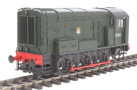 Class 08 shunter 13282 in BR green with early crest and no yellow warning panels